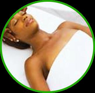 woman enjoying facial massage