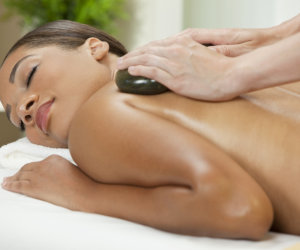 woman enjoying back treatment
