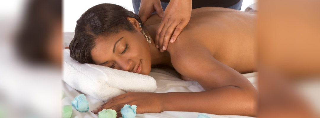 woman enjoying spa massage